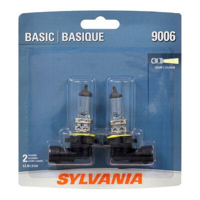 SYLVANIA 9006 Basic Halogen Headlight Bulb, 2 Pack