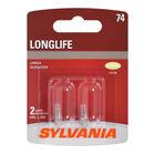 SYLVANIA 74 Long Life Mini Bulb, 2 Pack, , hi-res