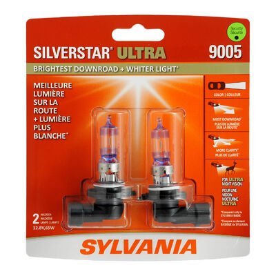SYLVANIA 9005 SilverStar ULTRA Halogen Headlight Bulb, 2 Pack