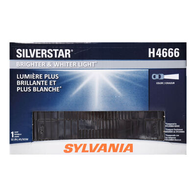 SYLVANIA H4666 SilverStar Sealed Beam Headlight, 1 Pack