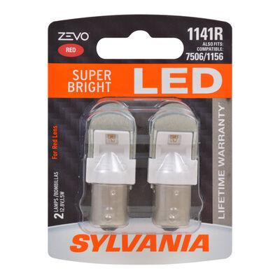 SYLVANIA 1141R RED ZEVO LED Mini, 2 Pack