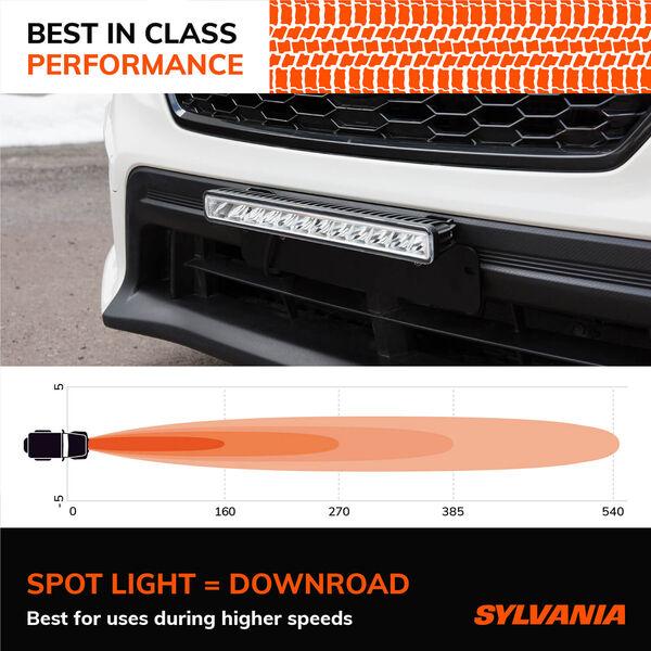 SYLVANIA Slim 12 Inch LED Light Bar - Spot, , hi-res