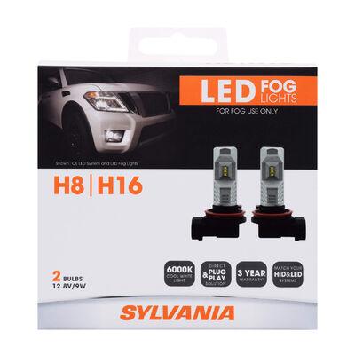 SYLVANIA H8 ZEVO LED Fog Bulb, 2 Pack