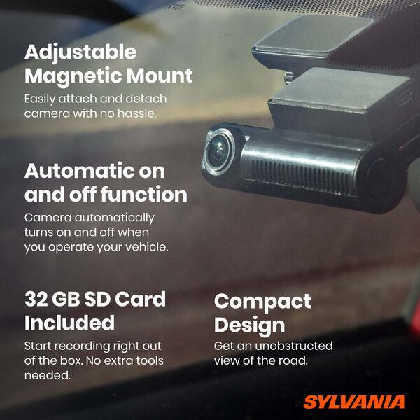 SYLVANIA Roadsight Dash Camera Stealth + Rear Bundle, , hi-res