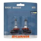 SYLVANIA H11 Basic Halogen Headlight Bulb, 2 Pack, , hi-res