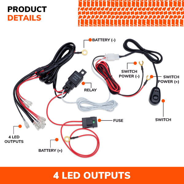 SYLVANIA Universal 4 Output LED Wiring Harness, , hi-res
