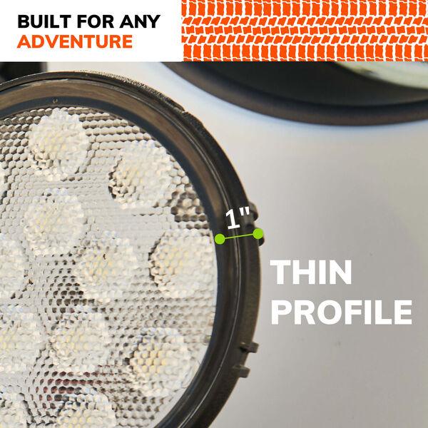 SYLVANIA Rugged 4 Inch LED Pod Round - FLood, , hi-res