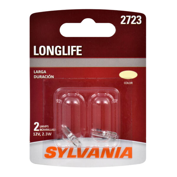SYLVANIA 2723 Long Life Mini Bulb, 2 Pack, , hi-res