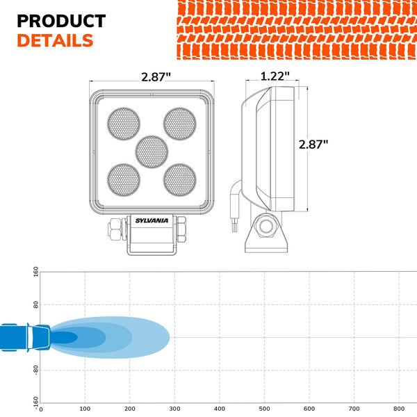 SYLVANIA Slim 3 Inch LED Pod Cube - Flood, , hi-res