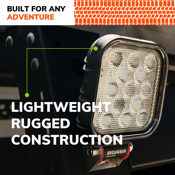 SYLVANIA Rugged 4 Inch LED Pod Cube - Flood, , hi-res