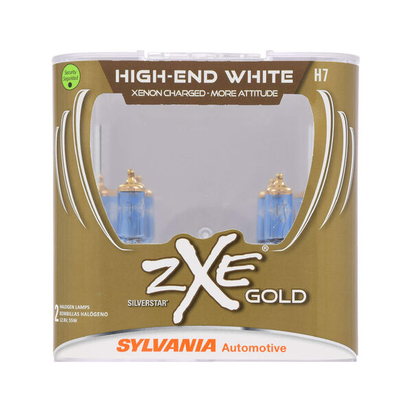 SYLVANIA H7 SilverStar zXe Gold Halogen Headlight Bulb, 2 Pack, , hi-res