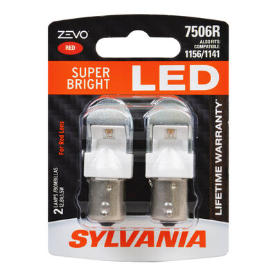SYLVANIA 7506R RED ZEVO LED Mini, 2 Pack