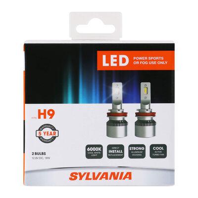 SYLVANIA H9 LED Fog & Powersports Bulb, 2 Pack
