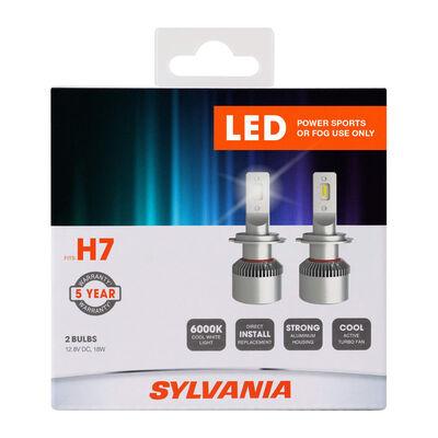 SYLVANIA H7 LED Fog & Powersports Bulb, 2 Pack