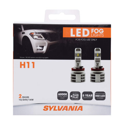 SYLVANIA H11 ZEVO LED Fog, 2 Pack