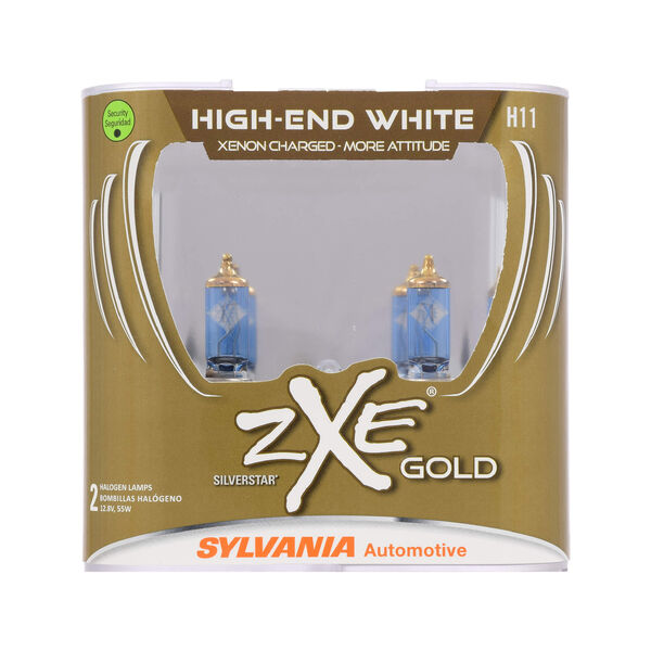 SYLVANIA H11 SilverStar zXe Gold Halogen Headlight Bulb, 2 Pack, , hi-res