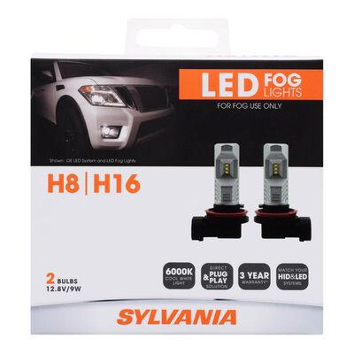 SYLVANIA H16 ZEVO LED Fog Bulb, 2 Pack