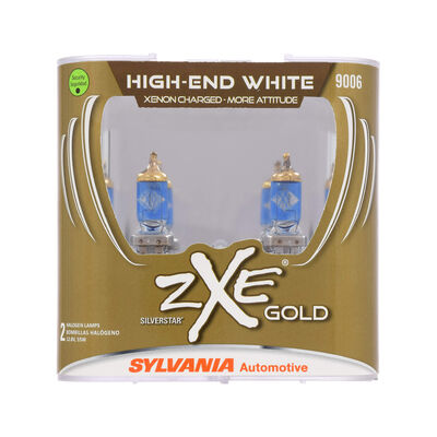 SYLVANIA 9006 SilverStar zXe Gold Halogen Headlight Bulb, 2 Pack