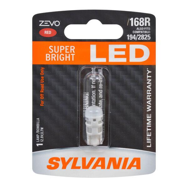 SYLVANIA 168R RED ZEVO LED Mini, 1 Pack, , hi-res