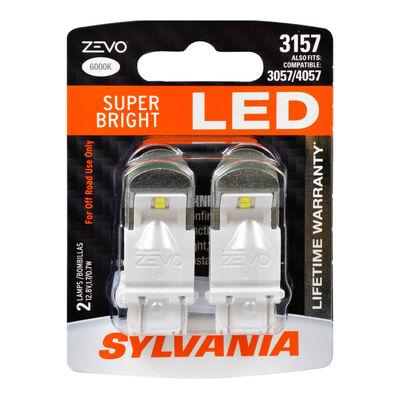 SYLVANIA 3157 WHITE ZEVO LED Mini, 2 Pack