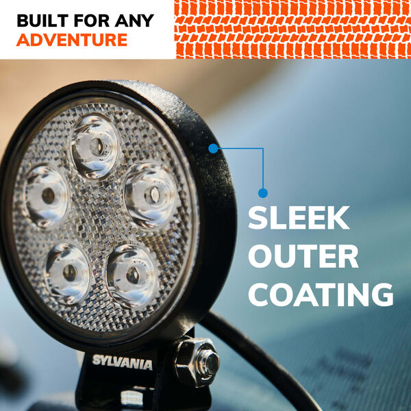 SYLVANIA Slim 3 Inch LED Pod Round - Spot, , hi-res