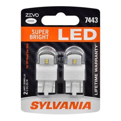 SYLVANIA 7443 WHITE ZEVO LED Mini, 2 Pack
