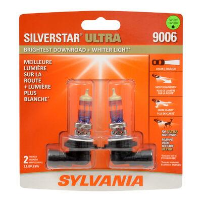 SYLVANIA 9006 SilverStar ULTRA Halogen Headlight Bulb, 2 Pack