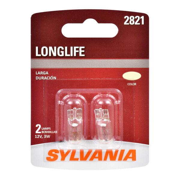SYLVANIA 2821 Long Life Mini Bulb, 2 Pack, , hi-res