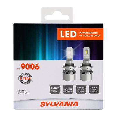 SYLVANIA 9006 LED Fog & Powersports Bulb, 2 Pack