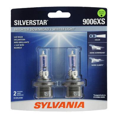 SYLVANIA 9006XS SilverStar Halogen Headlight Bulb, 2 Pack