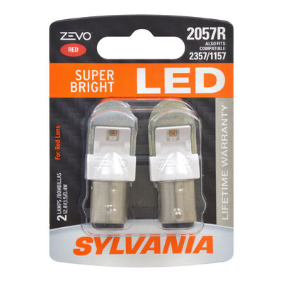 SYLVANIA 2057R RED ZEVO LED Mini, 2 Pack