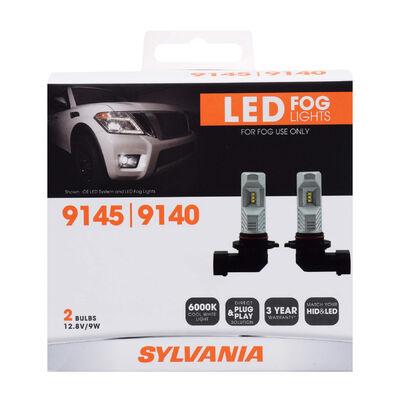 SYLVANIA 9145 ZEVO LED Fog Bulb, 2 Pack