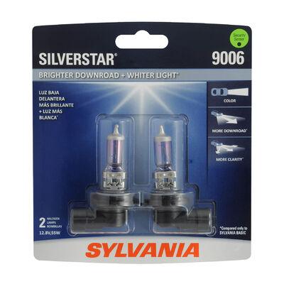 SYLVANIA 9006 SilverStar Halogen Headlight Bulb, 2 Pack