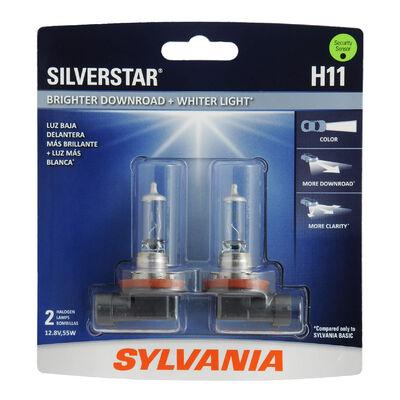 SYLVANIA H11 SilverStar Halogen Headlight Bulb, 2 Pack