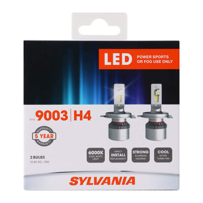 SYLVANIA 9003 LED Fog & Powersports Bulb, 2 Pack