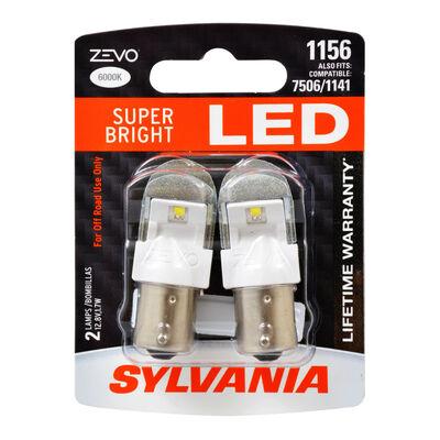 SYLVANIA 1156 WHITE ZEVO LED Mini, 2 Pack
